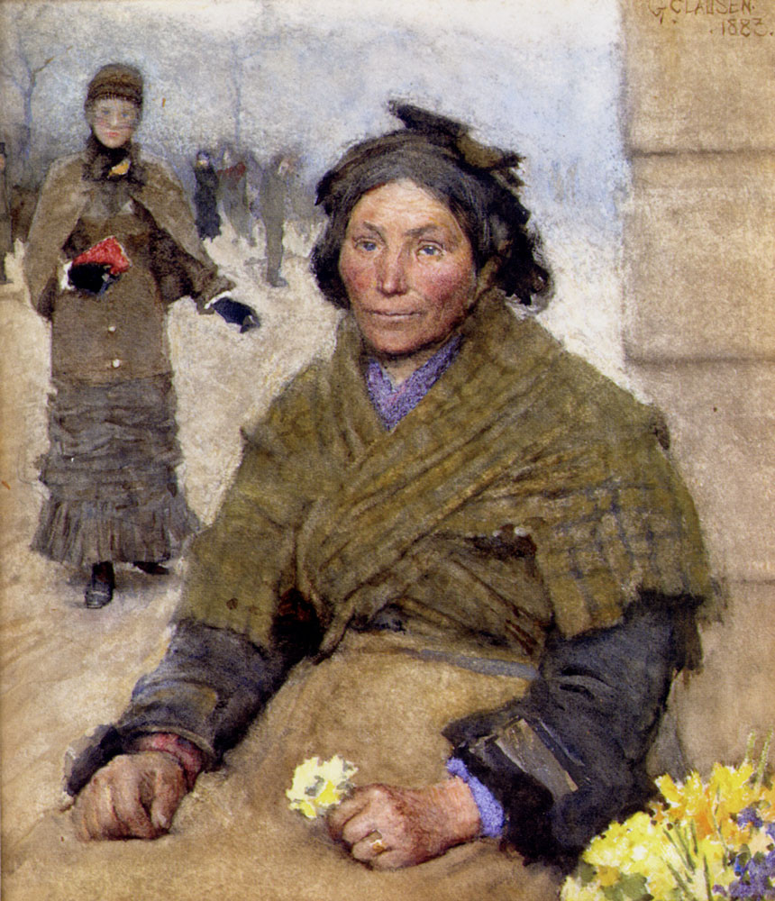 Flora, the gypsy Flower seller, 1883